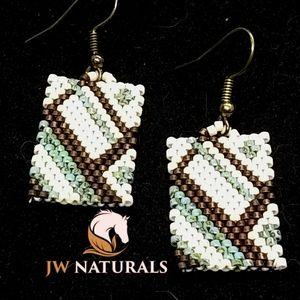 JRW Handmade Geometric Beaded Earrings